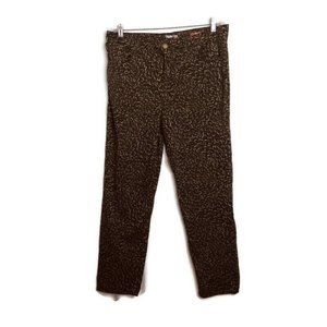 Style & Co Size 14 Brown Floral Print Skinny Pants